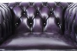 Chesterfield Sessel Original Leder | Antik violett | 12 Jahre Garantie_