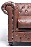 Chesterfield Sofa Vintage Leder | 2-Sitzer | Braun | 12 Jahre Garantie_