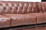 Chesterfield Sofa Vintage Leder   6-Sitzer  Braun   12 Jahre Garantie_