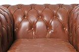 Chesterfield Sessel Vintage Leder | Mokka | 12 Jahre Garantie_