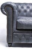 Chesterfield Sessel Vintage Leder |  Schwarz |12 Jahre Garantie_