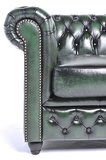 Chesterfield Sofa Original Leder | 3-Sitzer | Antik grün | 12 Jahre Garantie_
