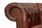 Chesterfield Sofa Class Leder |2-Sitzer |  Cloudy Braun Old | 12 Jahre Garantie_