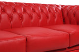 Chesterfield Sofa Original Leder |  1 + 2 + 3 Sitzer | Rot |12 Jahre Garantie_
