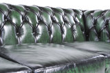 Chesterfield Sofa Original Leder |  1 + 2 + 3 Sitzer | Antik Grün |12 Jahre Garantie_