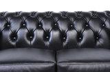 Chesterfield Sofa Original Leder    1 + 2  Sitzer   Schwarz  12 Jahre Garantie_