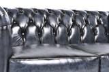 Chesterfield Sofa Original Leder |  1 + 2  Sitzer | Antik Blau |12 Jahre Garantie_