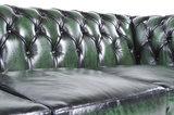Chesterfield Sofa Original Leder    1 + 2  Sitzer   Antik Grün  12 Jahre Garantie_