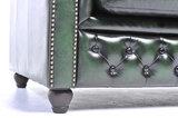 Chesterfield Sofa Original Leder |  2 + 3  Sitzer | Antik Grün |12 Jahre Garantie_