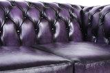 Chesterfield Sofa Original Leder    2 + 3  Sitzer   Antik Violett  12 Jahre Garantie_