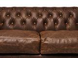 Chesterfield Sofa Vintage Leder C0869   1 + 2 Sitzer   12 Jahre Garantie_