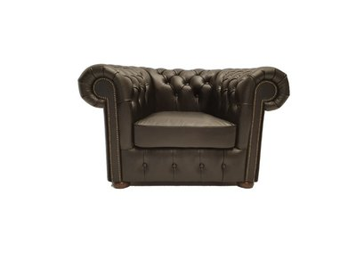 Chesterfield Sessel Class Leder | Sessel | Shiny Schwarz | 5 Jahre Garantie