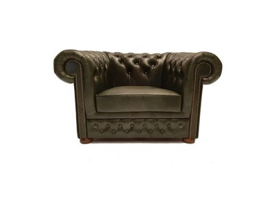 Chesterfield Sessel First Class Leder | Cloudy Grün | 12 Jahre Garantie