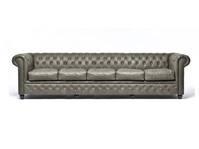 Chesterfield Sofa Vintage Alabama C1057 | 5-sitzer | 12 Jahre Garantie