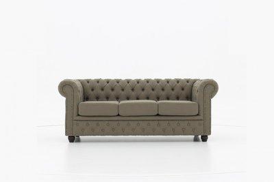 Chesterfield Sofa Original Stoff | 3-Sitzer | Pitch Beige  | 12 Jahre Garantie