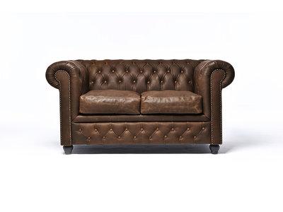 Chesterfield Sofa Vintage C0869   2-Sitzer   12 Jahre Garantie