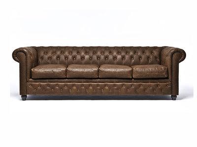 Chesterfield Sofa Vintage C0869 | 4-sitzer | 12 Jahre Garantie